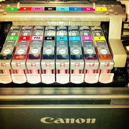 just set up my canon photo printer, #beyond #excited #canon #print #colors #pv #camera #photography #printer #laminate #levels #FUCKYES (Taken with instagram)