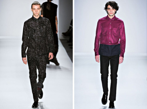 (via Timo Weiland Fall/Winter 2012 | New York Fashion Week)