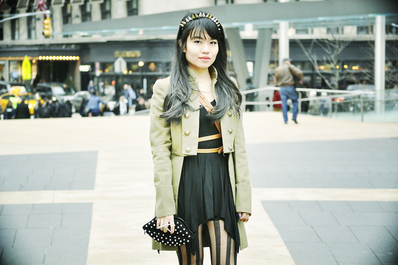 #NYFW DAY 3   Nicole - Lincoln Center, NYC        TOPSHOP Girl of Liberty // Mango MIlitary Princess