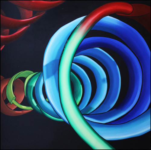 "PyMol #4 Oil on Canvas 48"" x 48"""
