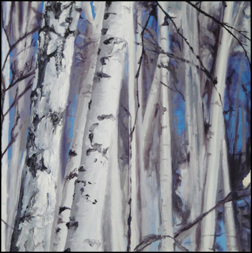 "Comission: Mary-Jane Birches #2 Oil on Canvas 32"" x 32"""