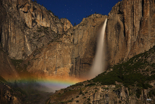 upper yosemite falls moonbow by Marc Crumpler (Ilikethenight) on Flickr.