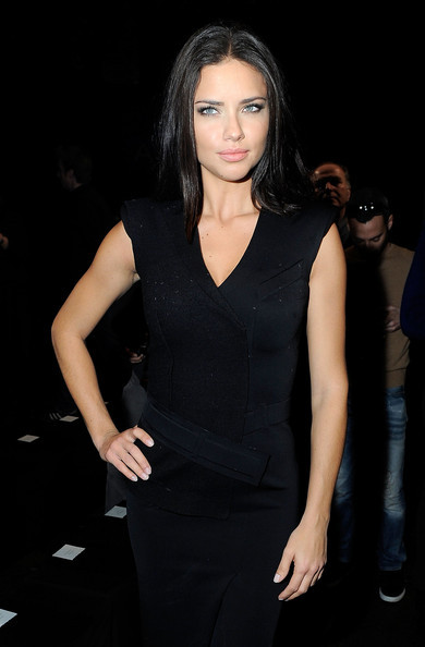 celebritypassionista:    Model Adriana Lima attends the Donna Karan New York Fall 2012 fashion show during Mercedes-Benz Fashion Week on February 13, 2012 in New York City.