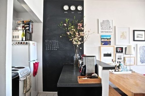 i've decided. the blackboard and flowers are going in my future kitchen…