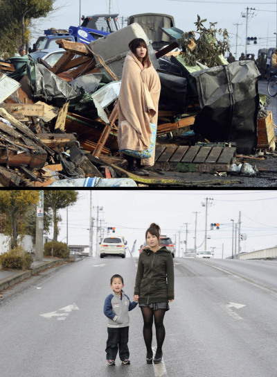 ayumichan46:  The progress made in Japan 11 months after the Earthquake and Tsunami… This is an amazing photo I think.