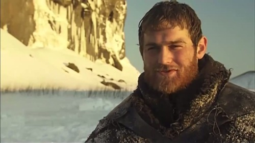 wicnet:  Mark Stanley as Grenn in the In Production Iceland video. And can I say, I love a nice ginger beard.