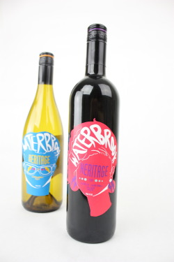 Challenge: Re-Design wine labels for an assigned winery to appeal to the 21-30 age group of new wine drinkers. Solution: My Winery was Waterbrook, their original designs were definitely not aimed at the youth market. I did some research and found that they started in 1984, and that they were proud of their heritage. I based the labels off of 80's yearbook photo's, since that era is popular with younger people. I chose bright, iconic 80's colors so they would pop off the shelf, and coordinated the color of the wine with the color of the type.  I used the lightning bolt to tie the front and the back together. Waterbrook Logotype design: Terra Miller Photo's: Kayley Kirmse