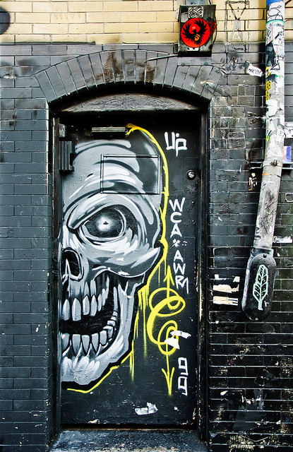 Skeledoor by Brandon Doran on Flickr.