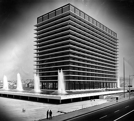 wandrlust:  Los Angeles Department of Water and Power Building by Albert C. Martin, Jr.