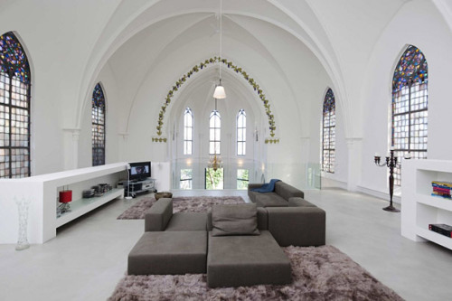 Living inside of a church.