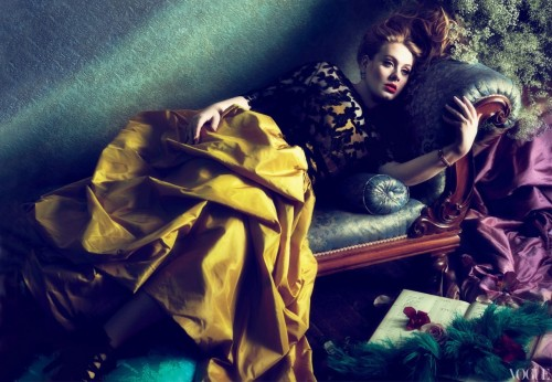 The transcendent Adele photographed by Mert & Marcus for Vogue March 2012. (Image via Fashiontography)