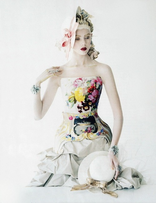 moldavia:  Frida Gustavsson in Vogue US January 2012 by Tim Walker