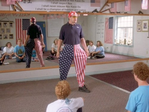 You think anybody wants a roundhouse kick to the face while I'm wearing these bad boys?   Love this movie