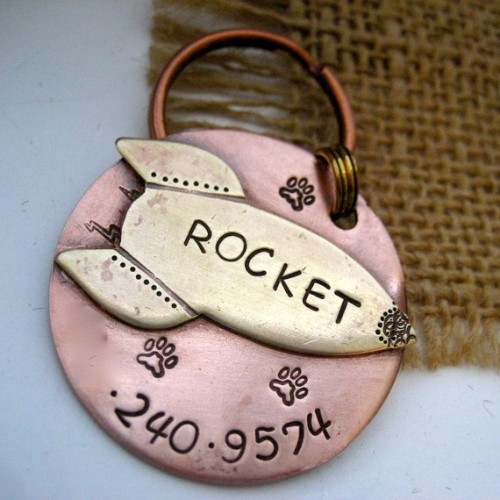 This is the dog tag I'd like to get for Shiloh.  It makes me think of the toy rocket in TH and that's basically the only reason I want it. XD  It's kind of a frivolous expense in the long run but DAMN IT, I want it.