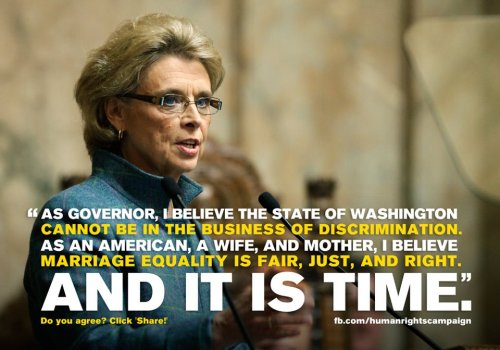 You go, Ms. Gregoire. Thank you for making Washington more awesome.