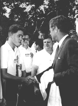 President Clinton and JFK. Such an awesome picture.