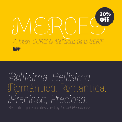 prettyclever:  Merced from Latinotype