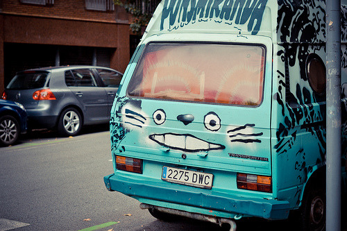A Little Bit On The Totoro Side: Greatest van ever or greatest van ever? This pic was snapped by Flickr user Lunapic right before they were offered Pocky by a strange man inside. They were never heard from again.