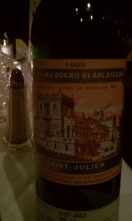 1995 Chateau Decru Beaucaillou - Char-broiled oysters, steak and all with my amazing dad. I really couldn't ask for a better send off from home than this wonderful wine and sharing it with one of my favorite people. Full of dried roses and chocolate hints on the nose, bright red fruit on the palate with a silky texture… it was one of the best I've had the pleasure of tasting. It was almost as great as the company I was privileged to enjoy it with. Thanks Dad! <3 I'm going to miss you. You had better come visit me soon!