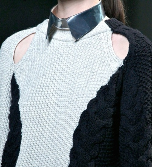 opaldeathpower:  3.1 phillip lim detachable collar on a yinyang looking sweater