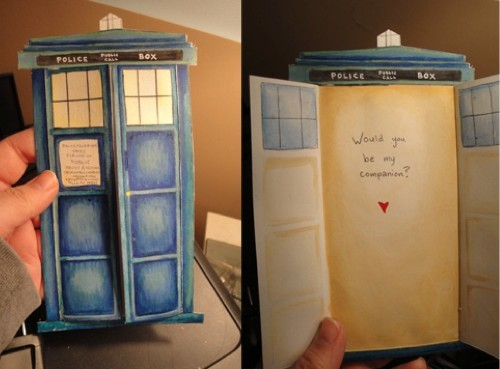 A Doctor Who valentine. <3