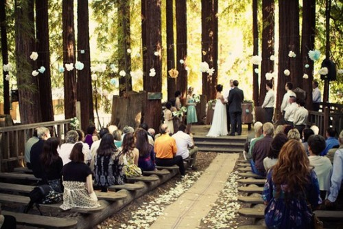 summer camp wedding. precious.