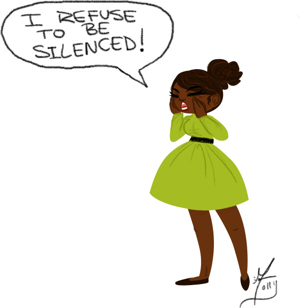 stayrosey:  molsillustration:  I refuse to be silenced (c) 2012  Needless to say I LOVE THIS!!! ❤