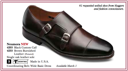 From the Allen Edmonds 2012 catalogue:  #1 requested welted shoe from bloggers and fashion connoisseurs
