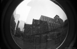 Philadelphia Eyeglass Lab Double Exposure Fish Eye 35mm Junior Workshop Alternative Camera Project