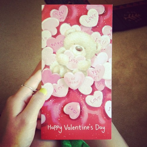 Thank you to my beautiful boyfriend for my Valentines Day card <3