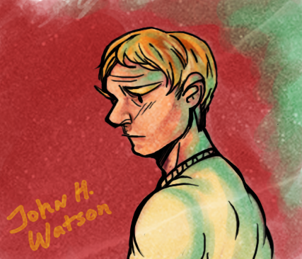 jscintilla:  Late night john watson I'm officially obsessed == also I'll stop being such a lazy ass and stop drawing headshots
