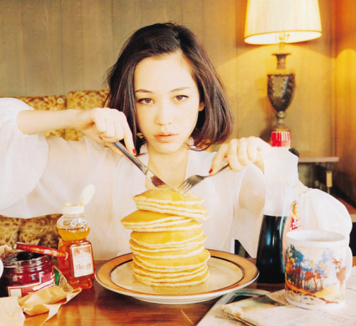 You know she doesn't actually eat those pancakes.