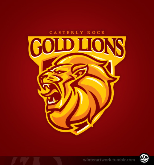 """Casterly Rock Lions""Show your support for the richest team in the game!$10 Limited edition tee available HERERB store"