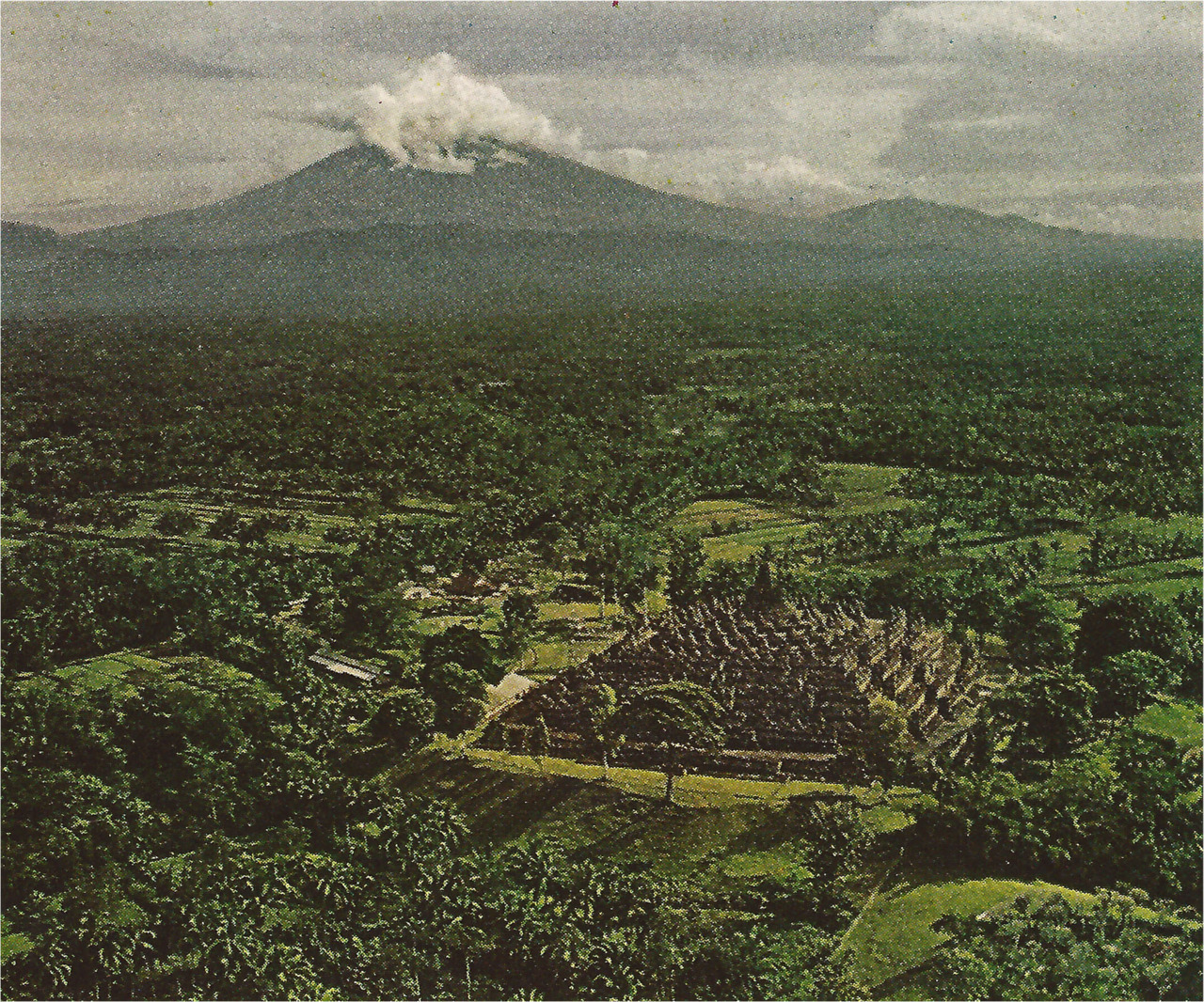 """Monks converge annually at the Borobudur shrine to commemorate the three most important events in Buddha's life - his birth, his enlightenment and his death."" (National Geographic, 1971)"