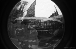 Peanut Chews Double Exposure Fish Eye 35mm Junior Workshop Alternative Camera Project
