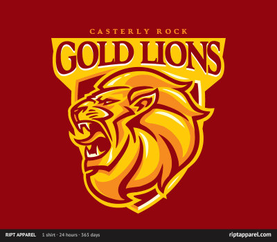 Limited Edition Tshirt: Casterly Rock Lions by WinterArtwork is on sale for $10 from RiptApparel for 24 hours only.