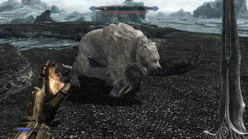 Um! It just gets lonely being a Snow Bear in Skyrim!