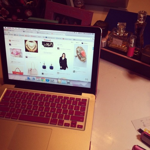 What my night consists of: #pinterest haha  (Taken with instagram)