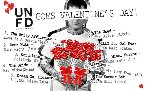 From UNFD with LOVE. Here's our Top 10 Valentine's Day playlist derived from the label roster! Happy Valentine's Day everyone!! [Listen]
