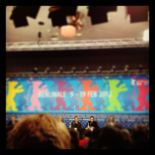 My second day at the Berlinale. Fell a bit in love with Billy Bob Thornton. Turns out he's a nice man as well as a good director.  John Hurt, aged 72, is getting cooler and handsomer by the day. Billy Bob's film Jayne Mansfield's Car was enjoyable. It's an Alabama generational saga with an anti-war message; the references are Tennessee Williams and Chekhov, the style is pure Altman. What's not to like? Some of it is a bit conventional, and the subtext is somehow lacking in depth, but it's a well-constructed work, with a good pace, quite a few laughs, and a great ensemble cast. The highlight of the day was undoubtedly Winter Nomads, a Swiss film about transhumance - the ancient shepherding practice of walking sheep across land to graze on whatever's left from the harvest season. Its charismatic protagonists (two shepherds, three donkeys, four dogs and eight hundred sheep!) make it a very enjoyable journey, which leads the viewer to consider the relationship between tradition and modernity, man and beast, landscape and ritual. It's a delightful, lovely, touching film. I walked from Potsdamer Platz to Hebbel am Ufer, where the Berlinale Talent Campus is taking place. The atmosphere there is anarchic, vibrant, full of exciting new ideas and talent. You can tell some of the people here are going to make a massive contribution to the future of cinema. Went to a workshop on distribution and a lecture on digital storytelling and interactive documentary to pick up tips for some exciting things that are in the pipeline for me personally and for No Borders Magazine. More anon. It's much less cold, thank god. Only one pair of socks, and thermals under jeans will see me through today. Thermal vest not needed under a thick Icelandic wool jumper. Discovered that the U-Bahn between Kreuzberg and the place wehre I'm staying is closed after 10pm for engineering works. That was interesting. Ugh.
