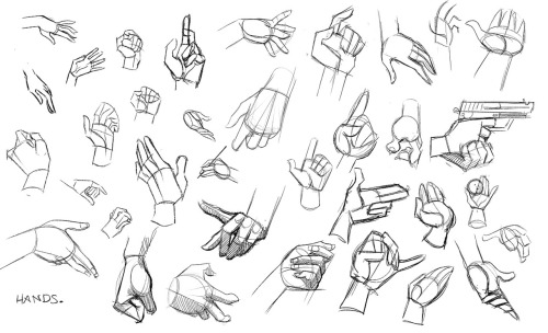 I drewed some hands for learnings. (referenced stock images from around the imternets.)