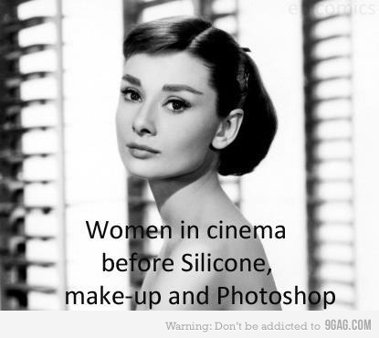 9gag:  Audrey Hepburn is awesome