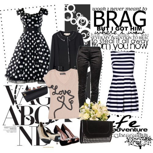 BRAG by ms-aja-james featuring peep toe platform pumps