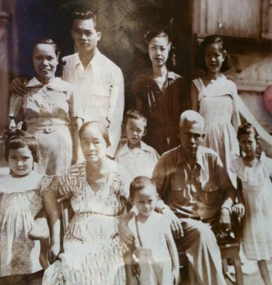 "Pictured: The Madrid family. My grandmother is on the top row, third from the left. My grandmother, who we call 'mama', turned 95 years old a couple of weeks ago. She's an amazing woman who brought up three children and a nephew as a single mother. She worked as an english teacher in the Philippines. Her husband was assassinated in the back of their home when my dad was just a toddler, during the Chinese invasion of the Philippines. My grandfather was a revered figure in the community at the time and worked as a pilot. My grandmother heard the shot as she hid with her three children. Shortly thereafter their home was burned to the ground, leaving a few pieces of furniture which we still have in the family to this day. Mama is the strongest woman I know, and I can only hope to live up to the path she has carved for her family's future generations. Mama I love and miss you. Happy birthday. ""Mama is okay and we celebrated her birthday last Feb 1.  She still remembers me and your mom but quickly forgets who we are by late afternoon, unless we remind her who we are. There are times when she remembers a lot of things vividly—even events that happened like 40 years ago. One time, she asked me where my father was and I thought she was referring to your Uncle Roddy because Ryan was also in Manila with his brand new wife Christine. So I told her who I was and that I am her son.  She then said I know, but where is my husband, your father.  I told her her husband, my father died a long time ago and she looked at me sadly and said—so my husband is dead? When we bade her goodbye, she cried and said, please don't leave me. So, I told her we're coming back in May just to appease her. I really felt so sad leaving her like that. Except for her memory lapses, she's ok and relatively in good health considering her age 95 years."" - An email from my dad, returning from the Philippines to celebrate mama's 95th birthday. Everyone in the family feels this may be her last one."