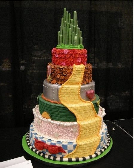 The Wizard of Oz cake….Yellow brick road