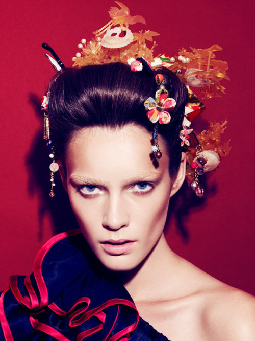 """Patrycja Gardygajlo by Nagi Sakai for Glamour Germany (via Patrycja Gardygajlo by Nagi Sakai for Glamour Germany)"" série ici"