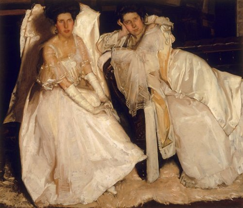 Hugh Ramsay, 1904, The Sisters. Oil on canvas on hardboard. Source: National Portrait Gallery via ZeeZee.