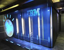 "Watson's New Job: IBM Salesman - Technology Review IBM's Watson supercomputer reached a milestone in artificial intelligence last February when it beat two Jeopardy! champions. Millions watched, and while some experts dismissed it as a publicity stunt, IBM said Watson would soon be helping doctors diagnose illness, and hinted at talks with gadget companies about Watson helping consumers with questions. As IBM prepares to celebrate the first anniversary of the televised  contest on February 16, though, it is not yet offering the  question-answering system for sale. Although limited trials using Watson  technology are underway in health and financial services businesses,  the AI prodigy is having its biggest impact by pulling in new customers  for existing business products—as IBM persuades them to organize their  data into formats that an AI like Watson can better understand. IBM has  created a slogan, ""Ready for Watson,"" to help sell its products that  way. IBM hasn't disclosed how much it spent developing Watson, but the  lengthy research and development process is believed to have cost in the  tens of millions of dollars. To play Jeopardy, the system  needed to understand the meaning of the answers posed as clues, and to  rapidly apply general knowledge—distilled from the Internet and other  sources—to identify possible answers. That required novel software and  an expensive supercomputer. ""Customers are coming to us and saying 'I'd like a Watson,' "" says  Stephen Gold, IBM's director of worldwide marketing for Watson.  Eventually, that might be possible, but first they need to have the  right data sets for Watson to operate on."