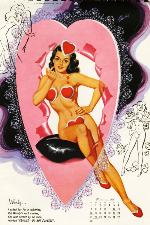 Happy Valentine's Day (Bill Randall Illustration c. 1954)