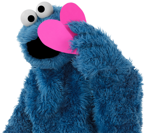 sesamestreet:  Happy Valentine's Day from Cookie Monster!